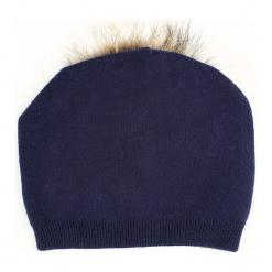 Granatowa Czapka Snow. Niebieskie czapki zimowe damskie other. Za 49,99 zł.