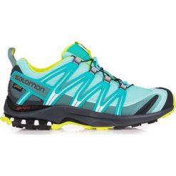 Salomon Buty damskie XA Pro 3D GTX Ablue/Ombre Blue/Lime Punch r. 40 2/3 (394654). Czarne buty sportowe damskie marki Salomon, z gore-texu, na sznurówki, outdoorowe, gore-tex. Za 412,56 zł.