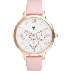 Zegarek kwarcowyw kolorze jasnoróżowo-białym. Czerwone, analogowe zegarki damskie Stylowe zegarki. W wyprzedaży za 127,95 zł.