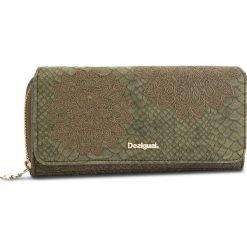 Duży Portfel Damski DESIGUAL - 18WAYP23 4092. Zielone portfele damskie Desigual, ze skóry ekologicznej. W wyprzedaży za 189,00 zł.