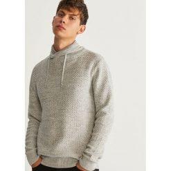 Sweter z kołnierzem - Jasny szar. Brązowe swetry klasyczne męskie marki bonprix, m, melanż, z dzianiny, klasyczne, z klasycznym kołnierzykiem. Za 139,99 zł.