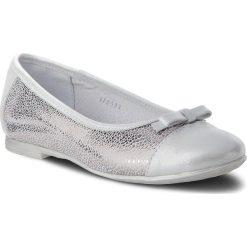 Baleriny RENBUT - 33-4295 Srebrny. Szare baleriny dziewczęce RenBut, ze skóry. Za 174,00 zł.