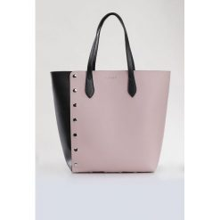 Shopper bag damskie: Torba z ozdobnymi nitami