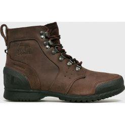 Sorel - Buty Ankeny Mid Hiker. Szare buty trekkingowe męskie Sorel, na zimę, z materiału, outdoorowe. Za 569,90 zł.