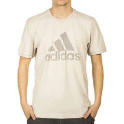 T-shirty męskie z nadrukiem: T-shirt w kolorze beżowym ze wzorem