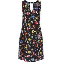Sukienki: Sukienka z dekoltem z tyłu bonprix czarno-żółty z nadrukiem