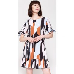 Sukienki: Pomarańczowo-Niebieska Sukienka Colourfull Wind