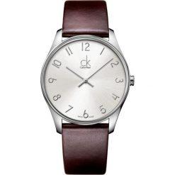 ZEGAREK CALVIN KLEIN CLASSIC GENT K4D211G6. Szare zegarki męskie Calvin Klein, szklane. Za 679,00 zł.