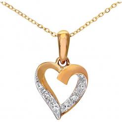 Złoty naszyjnik z diamentową zawieszką - dł. 46 cm. Żółte naszyjniki damskie marki METROPOLITAN, pozłacane. W wyprzedaży za 431,95 zł.