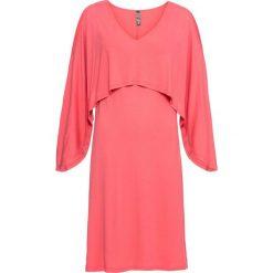 Sukienka bonprix jasny koralowy. Czerwone sukienki na komunię marki bonprix, z dekoltem w serek. Za 49,99 zł.