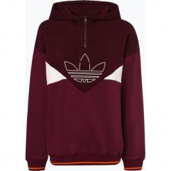 Adidas Originals - Damska bluza nierozpinana, czerwony. Szare bluzy z kapturem damskie marki adidas Originals, na co dzień, z nadrukiem, z bawełny, casualowe, z okrągłym kołnierzem, proste. Za 349,95 zł.