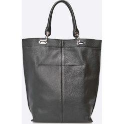 Gino Rossi - Torebka Skórzana. Czarne shopper bag damskie marki Gino Rossi, z materiału, duże. Za 799,90 zł.
