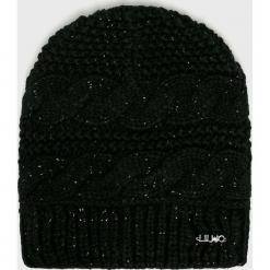 Liu Jo - Czapka. Czarne czapki damskie Liu Jo, na zimę, z dzianiny. Za 179,90 zł.