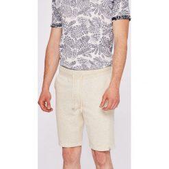 Jack & Jones - Szorty. Czarne szorty męskie marki Jack & Jones, l, z bawełny, z okrągłym kołnierzem. W wyprzedaży za 59,90 zł.