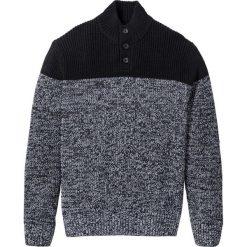 Sweter Regular Fit bonprix czarno-biały. Czarne golfy męskie marki bonprix, l. Za 89,99 zł.