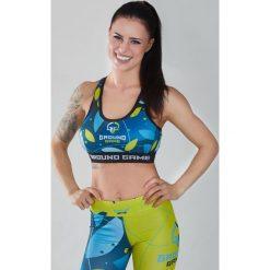 Biustonosze sportowe: Ground Game Sportswear Stanik Flowers niebieski r. XS (TOPFLOWERSXS)