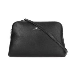 Torebki klasyczne damskie: Skórzane torebka w kolorze czarnym – (S)26 x (W)21 x (G)5 cm