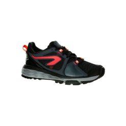 Buty do biegania RUN CONFORT GRIP damskie. Czarne buty sportowe damskie marki Kazar, z nubiku, przed kolano, na wysokim obcasie. W wyprzedaży za 149,99 zł.