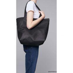 Zamszowa torba - shopper black. Czarne shopper bag damskie marki Pakamera, z bawełny, na ramię, zamszowe. Za 139,00 zł.