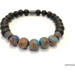 KD - Bransoletka BLACK ONYX - turquoise. Czarne bransoletki męskie Pakamera, z onyksem. Za 125,00 zł.