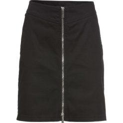 Spódnica twillowa bonprix czarny. Czarne spódniczki marki bonprix. Za 59,99 zł.