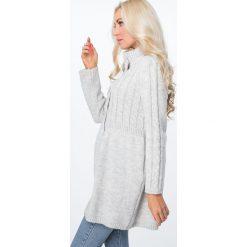 Swetry rozpinane damskie: Sweter zapinany na guziki ciepły szary MISC005