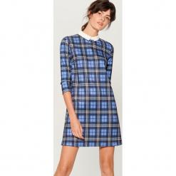 Sukienka w kratę - Niebieski. Niebieskie sukienki marki Mohito, l. Za 119,99 zł.