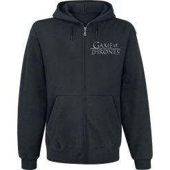Gra o Tron House Stark Bluza z kapturem rozpinana czarny. Czarne bluzy męskie rozpinane Gra o Tron, xl, z nadrukiem, z kapturem. Za 164,90 zł.