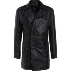 Płaszcze męskie: Bruuns Bazaar DYLAN LEATHER Krótki płaszcz black