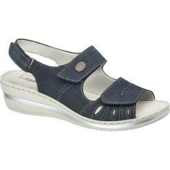 Rzymianki damskie: sandały damskie Medicus niebieskie