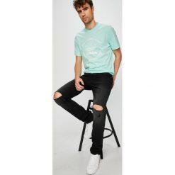 Review - Jeansy Simon. Czarne jeansy męskie slim Review, z bawełny. W wyprzedaży za 149,90 zł.