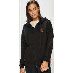 Adidas Originals - Bluza. Czarne bluzy rozpinane damskie adidas Originals, z bawełny, z kapturem. W wyprzedaży za 219,90 zł.