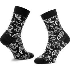 Skarpety Wysokie Unisex HAPPY SOCKS - PAI01-9000 Czarny. Czarne skarpetki męskie marki Happy Socks, z bawełny. Za 34,90 zł.