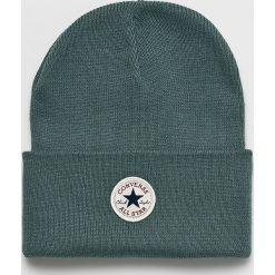 Converse - Czapka. Szare czapki zimowe damskie Converse, na zimę, z dzianiny. Za 89,90 zł.