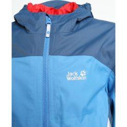 Jack Wolfskin AKKA  Kurtka hardshell wave blue. Niebieskie kurtki chłopięce sportowe marki bonprix, z kapturem. W wyprzedaży za 367,20 zł.