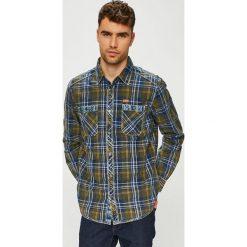 Tom Tailor Denim - Koszula. Szare koszule męskie na spinki marki TOM TAILOR DENIM, l, w kratkę, z bawełny, z klasycznym kołnierzykiem, z długim rękawem. Za 259,90 zł.