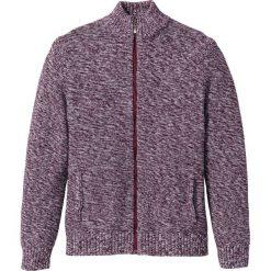 Sweter rozpinany Regular Fit bonprix czerwony klonowy melanż. Czerwone kardigany męskie bonprix, m, melanż. Za 89,99 zł.