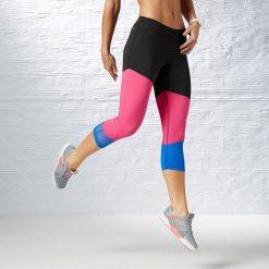 Reebok Spodnie damskie Dance Foundation Capri czarne r. M (B84054). Spodnie dresowe damskie Reebok, m. Za 94,22 zł.