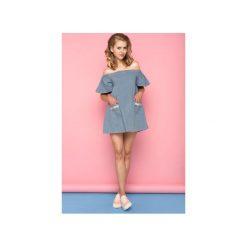 SUKIENKA PAPILLON. Niebieskie sukienki balowe La folie, m, z bawełny, sportowe. Za 169,00 zł.