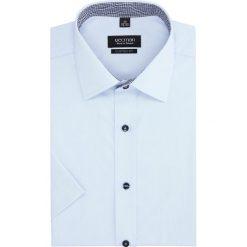 Koszule męskie: koszula bexley 2496 krótki rękaw custom fit niebieski