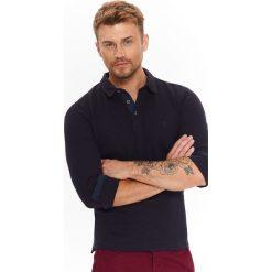 Koszule męskie na spinki: KOSZULA MĘSKA Z DZIANINY Z KONTRASTOWYMI WSTAWKAMI