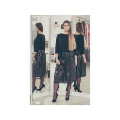 Sukienka Elegantka. Czarne sukienki balowe marki 3 for u, m, z materiału, plisowane. Za 183,20 zł.