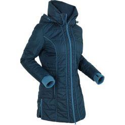Płaszcze damskie pastelowe: Płaszcz termoaktywny pikowany bonprix ciemnoniebieski