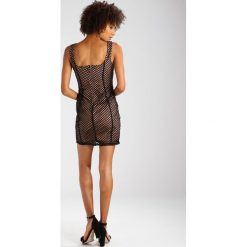 Sukienki hiszpanki: Missguided LACE UP FRONT  Sukienka etui black