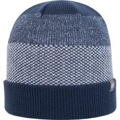 Czapka męska CAM201Z - ciemny granatowy - 4F. Niebieskie czapki zimowe męskie 4f, na jesień, z materiału. Za 22,99 zł.