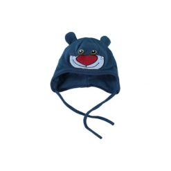 Name it  Boys Mini Czapka polarowaNITMUNNY ink blue - niebieski. Niebieskie czapeczki niemowlęce Name it, z bawełny. Za 29,00 zł.