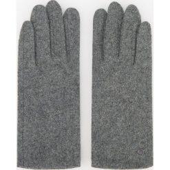 Rękawiczki z wełną - Szary. Szare rękawiczki damskie Reserved, z wełny. Za 39,99 zł.