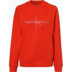 Calvin Klein Jeans - Damska bluza nierozpinana, pomarańczowy. Brązowe bluzy z nadrukiem damskie Calvin Klein Jeans, l, z jeansu. Za 439,95 zł.