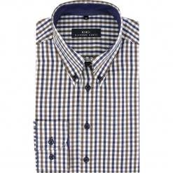 Koszula BIAGIO 16-03-11. Brązowe koszule męskie na spinki marki FORCLAZ, m, z materiału, z długim rękawem. Za 149,00 zł.