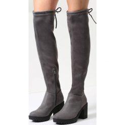 Ciemnoszare Kozaki Black Dog. Szare buty zimowe damskie vices, na wysokim obcasie. Za 79,99 zł.